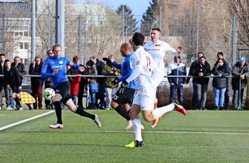 Die Fellbacher   sind den Stuttgarter Kickers  in allen Belangen unterlegen