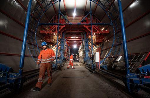 Letzter Bahntunnel für Stuttgart-Ulm kurz vor Durchbruch