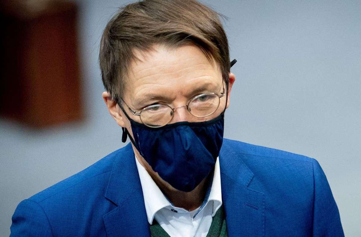 SPD-Politiker Karl Lauterbach erlebt im Netz viel Hass gegen seine Person. (Archivbild) Foto: dpa/Kay Nietfeld