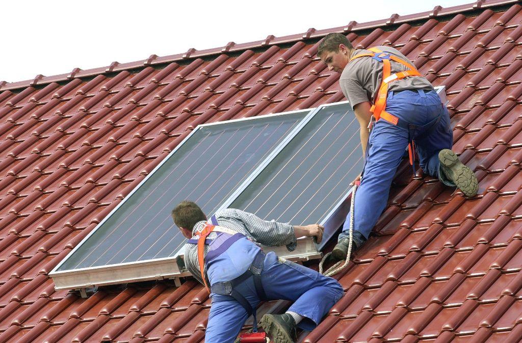 Solarthermieanlagen nutzen das Sonnenlicht, um Wärme zu erzeugen. Foto: Archiv