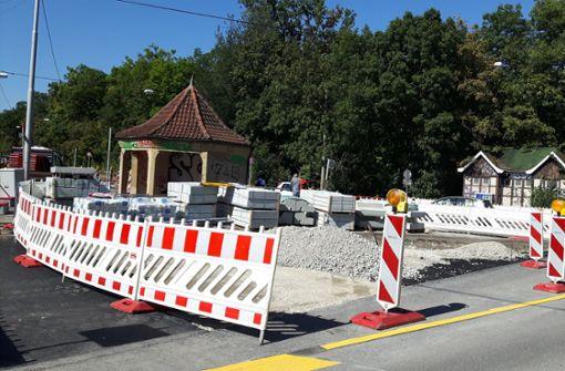 Die Umbauarbeiten laufen auf Hochtouren