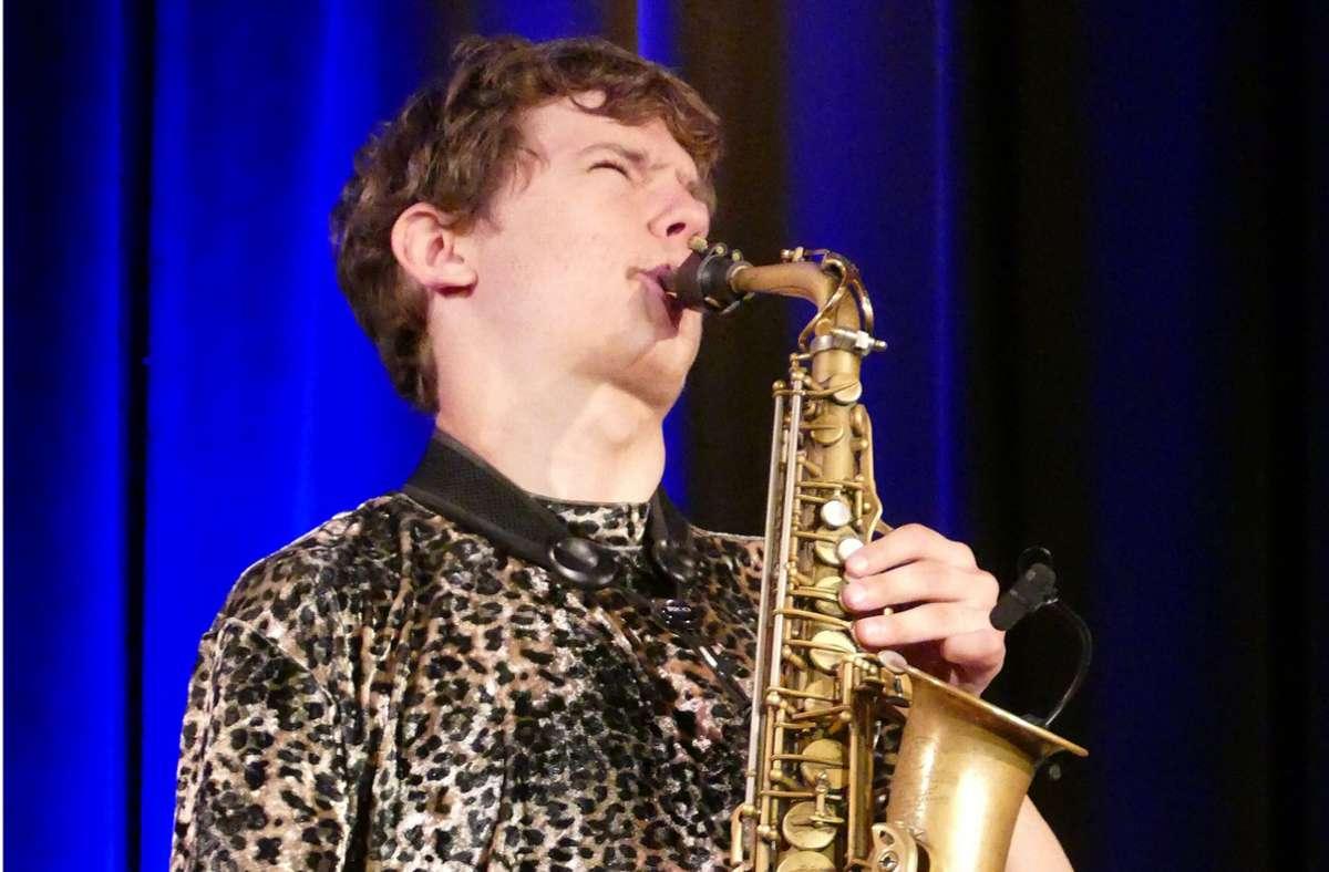 Jakob Manz bei seinem Auftritt beim nachgeholten  Jazzin'-Herrenberg-Festival im Mauerwerk im Sommer 2020 Foto: Bernd Epple/Bernd Epple