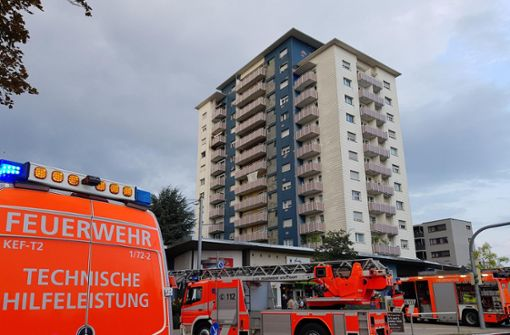 Hochhaus wegen Brandes teilweise evakuiert