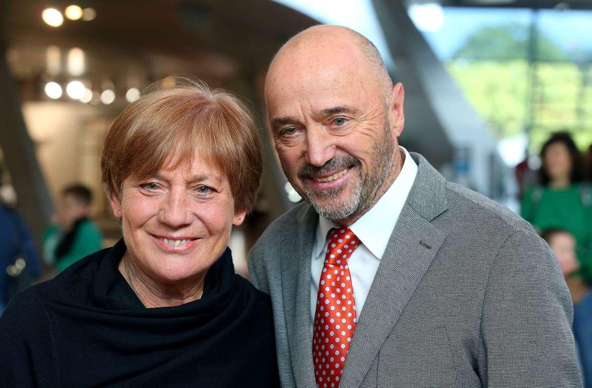 Rosi Mittermaier und ihr Mann Christian Neureuther Foto: Getty Images/Alexander Hassenstein