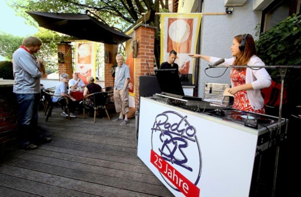 Radio BB hat noch einmal aus einem Sindelfinger Café gesendet. Foto: factum/Granville