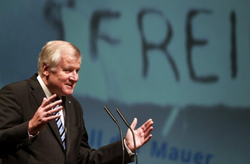 CSU-Chef Horst Seehofer Foto: dpa