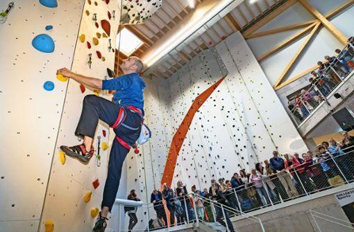 Stefan Belz gibt den Klettermaxen