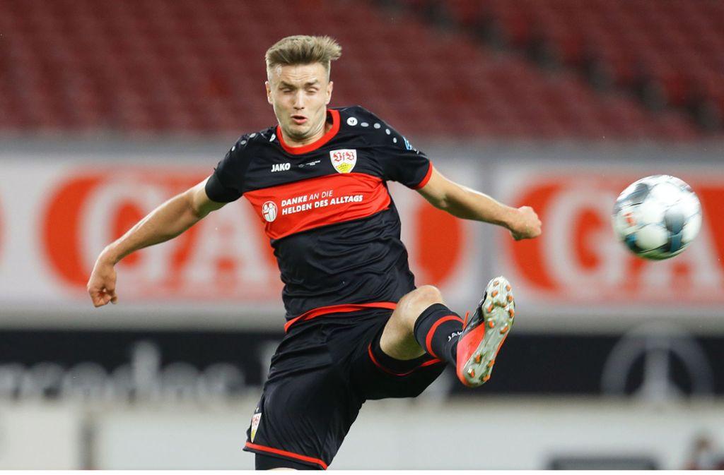 VfB-Stürmer Sasa Kalajdzic kann endlich zeigen, was er kann. Foto: Baumann