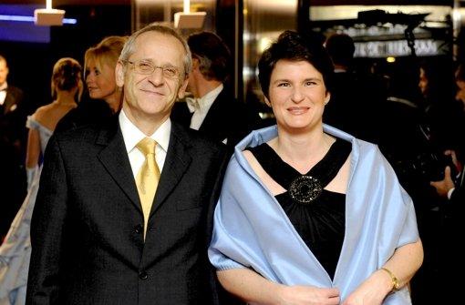 """""""Noch keine Anfrage"""" vom U-Ausschuss: Tanja   Gönner, CDU  (mit ihrem früheren Pressesprecher) Foto: dpa"""