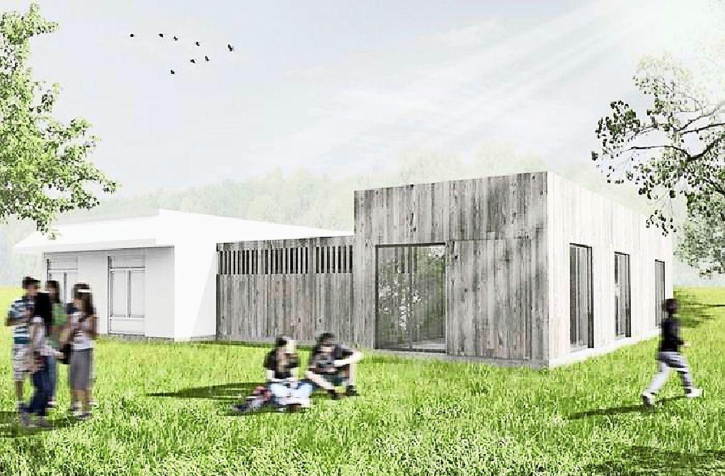 So  sehen die geplanten Pavillons für die Mobile Jugendarbeit in  Weilimdorf aus – die Forderung  ist auf  Platz 11 des Bürgerhaushalts gewählt worden. Foto: Hellmann-Schmeusser Architekten