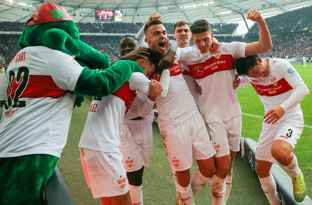 Der VfB Stuttgart konnte das Derby gegen den KSC gewinnen. Foto: Pressefoto Baumann/Julia Rahn