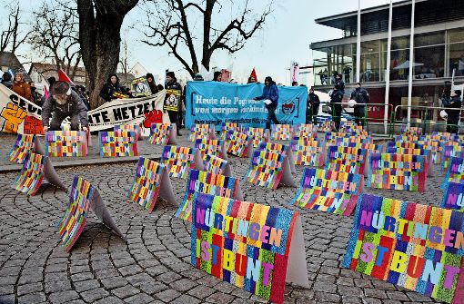 Bunter Protest gegen die AfD