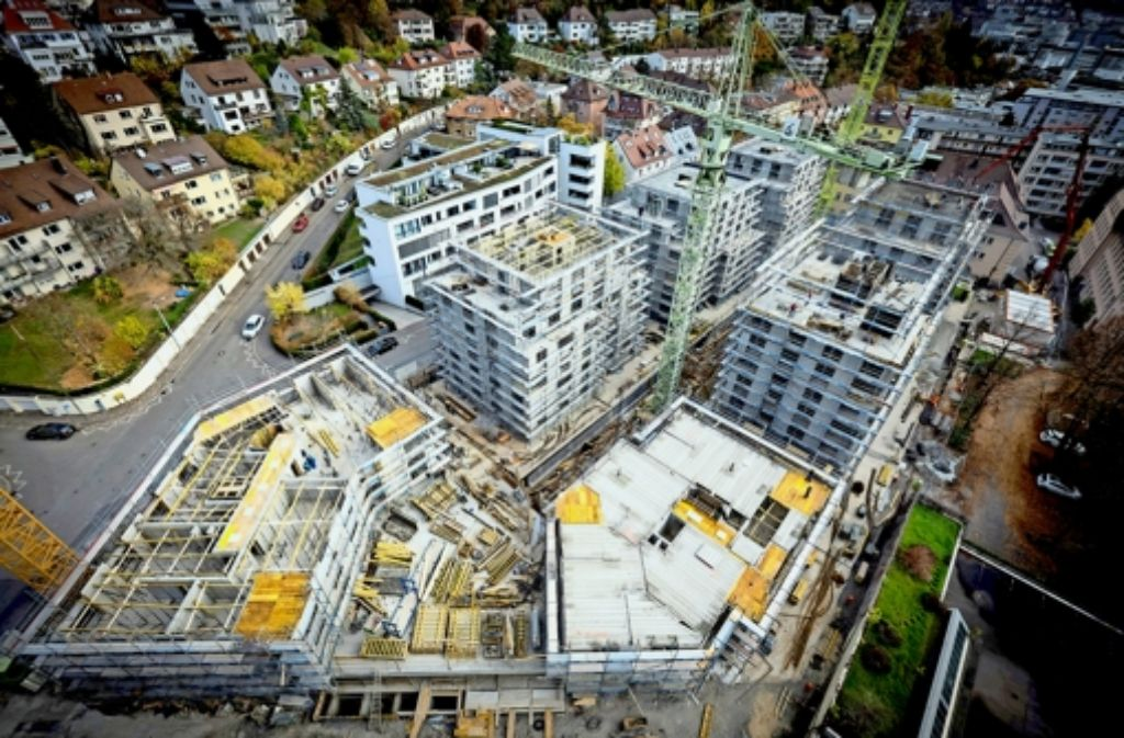 In Stuttgart müssen bei privaten Projekten auch Sozialwohnungen gebaut werden  – wie hier beim Villengarten im Norden Foto: Lg/Achim Zweygarth