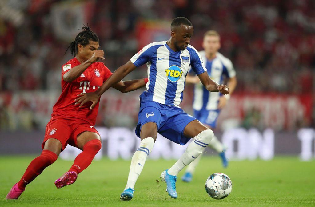 Neuzugang Dodi Lukebakio knüpfte in seinem ersten Spiel für Hertha BSC an seiner Erfolgsserie gegen Bayern München an. Foto: Bongarts/Getty Images