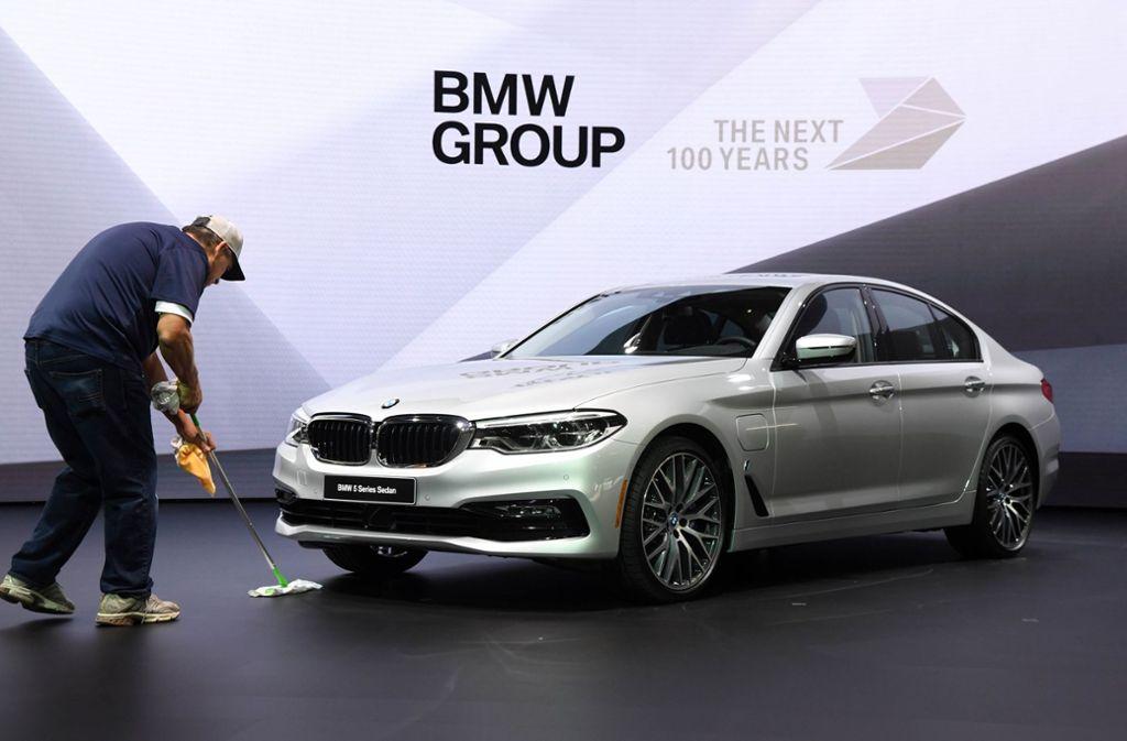 Der BMW 5er auf der Detroit Auto Show. Foto: dpa