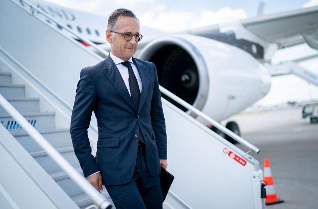 Heiko Maas hat wieder Pech mit einem Flugzeug der Luftwaffe. Foto: Kay Nietfeld/dpa
