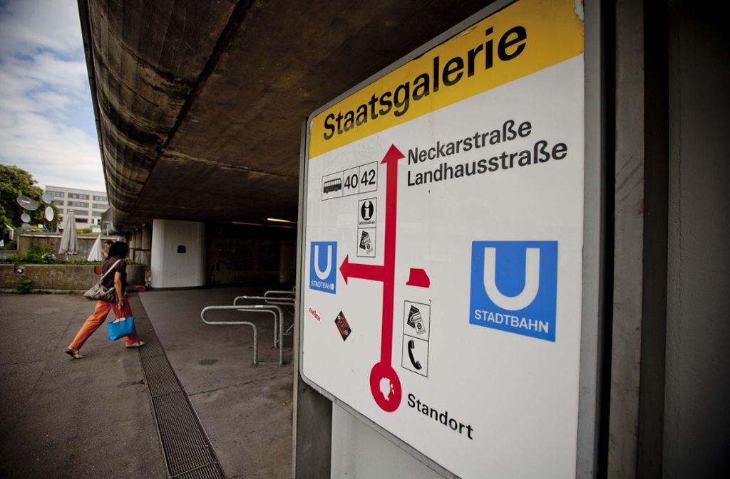 Bereits im Jahr 1972 eröffnet, gehört die Haltestelle Staatsgalerie zu den ältesten unterirdischen Stationen im Netz der SSB. Foto: Leif Piechowski