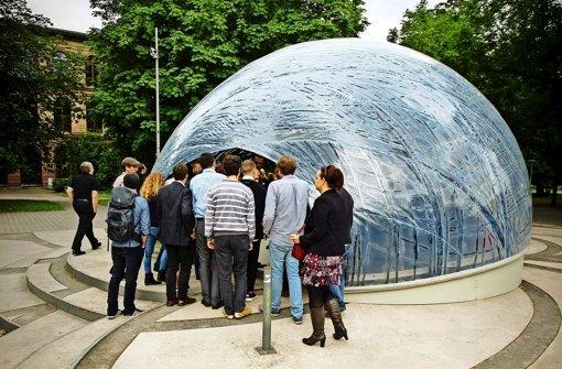 45 Kilometer Carbonfasern sind für den Pavillon verwendet worden. Foto: Lg/Zweygarth