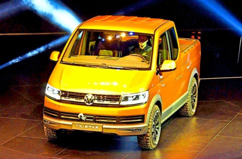 Der   Tristar ist das Highlight von VW  auf der IAA Hannover. In Serie produziert wird die Studie wohl nie werden. Foto: Baumann