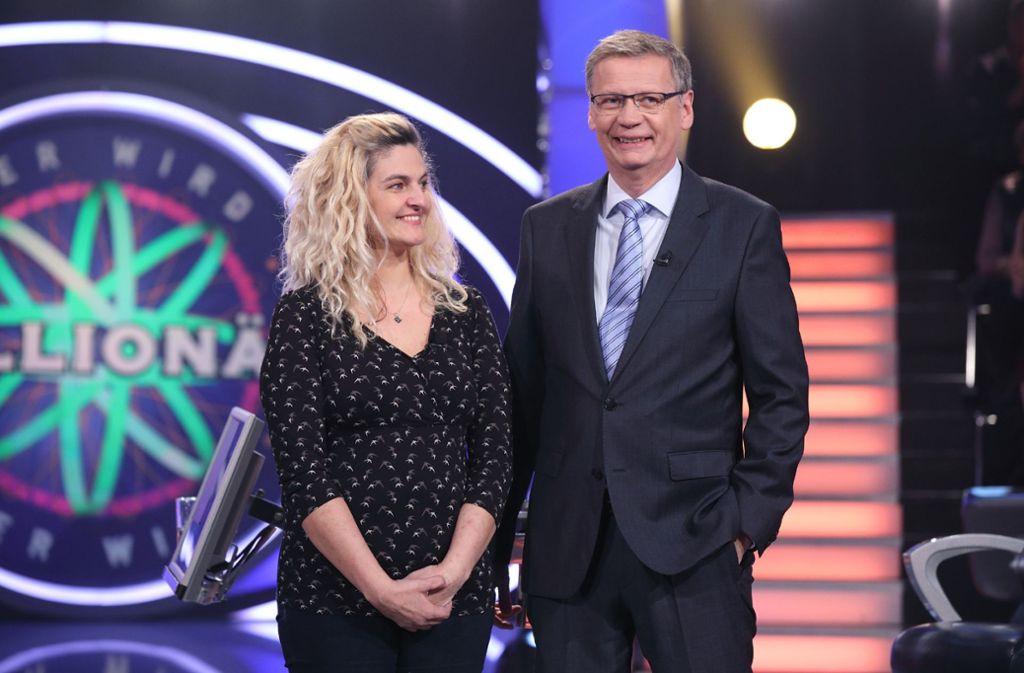 Maria Barisic spielt am Freitag bei Günther Jauch um eine Viertel Million Euro. Foto: MG RTL D / Frank Hempel