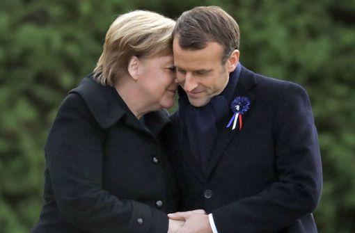 Merkel und Macron erinnern an Weltkriegsende