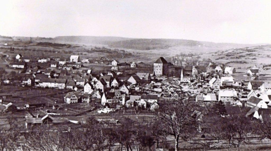 So sieht Heimsheim nach dem Bombardement vom 18. April 1945 aus – gut 80 Prozent der Häuser und der gesamte Stadtkern sind vollkommen zerstört. Foto: privat