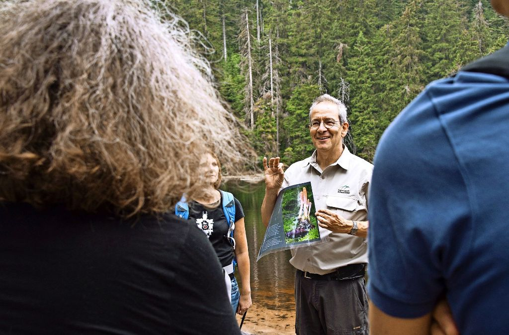 Naturführung im Wald: Die Entscheidung, Teile des Schwarzwalds zum Nationalpark zu machen, wurde durch vielfältige Bürgeranhörungen begleitet. Foto: dpa