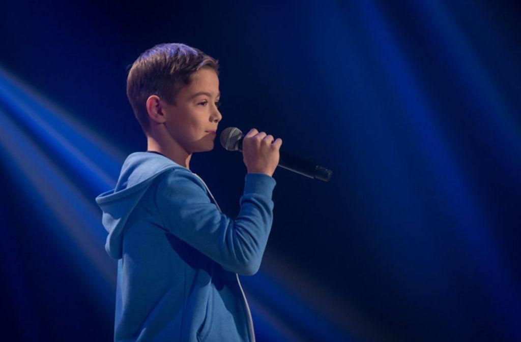 """Dimitrios bei seinem Auftritt vor der Jury von """"The Voice Kids"""". Foto: Veranstalter"""