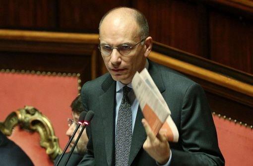 Regierungschef Letta möchte Rücktritt einreichen