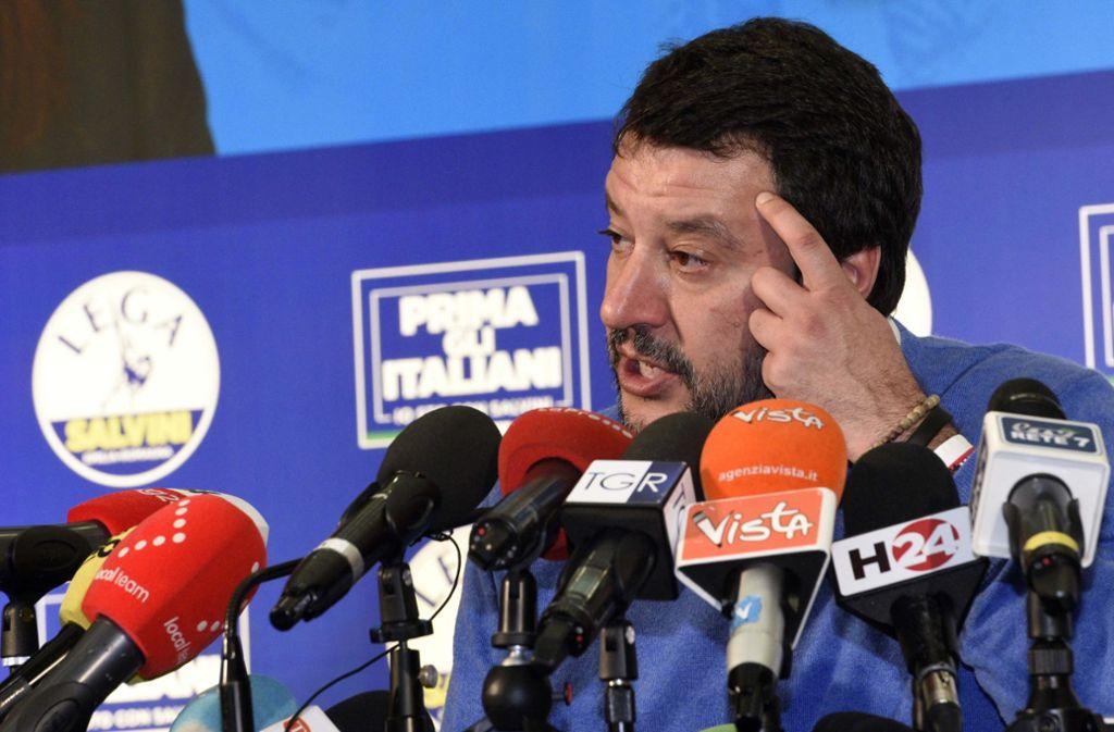 Salvini erlebt bei den Regionalwahlen in der Emilia Romagna eine herbe Niederlage. Foto: dpa/Stefano Cavicchi
