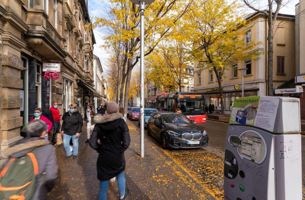 Umstritten: Die Parkplätze in der Ludwigsburger Myliusstraße entzweien Politik und Bürger. Foto: factum/Andreas Weise