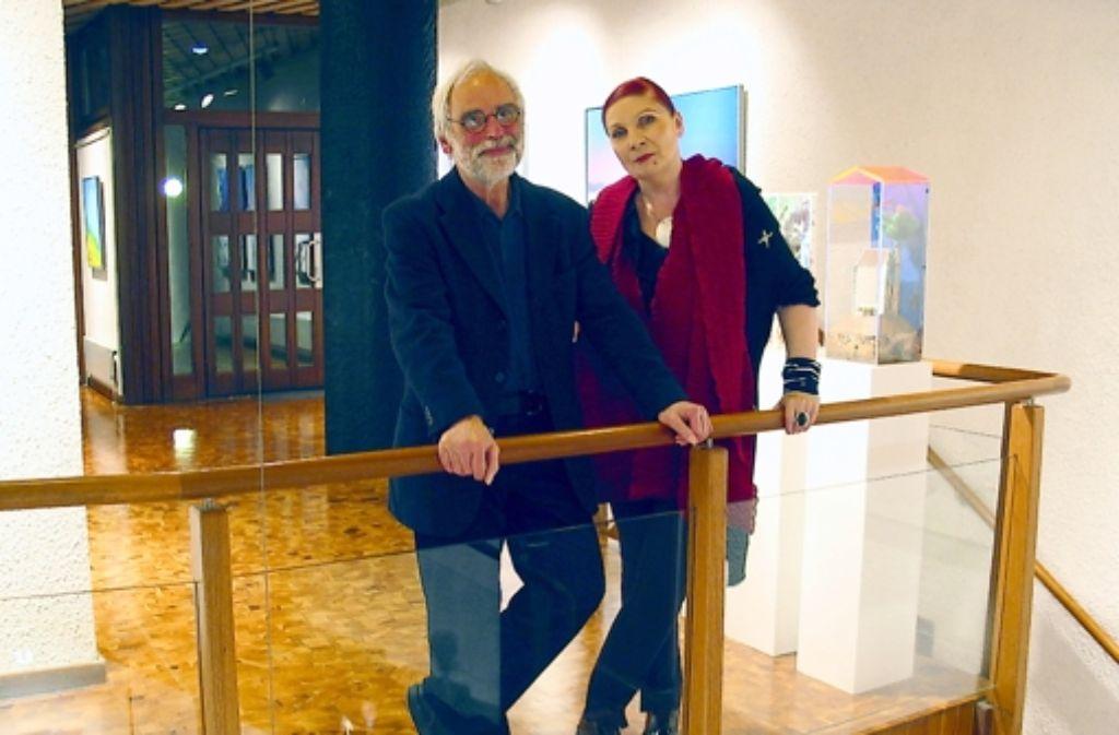 Hans Ginter und Marlis Weber-Raudenbusch haben die Geschicke des Kunstvereins seit bald 20 Jahren geleitet. Foto: Müller-Baji