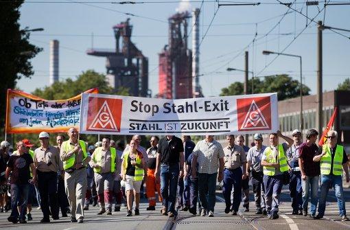 7000 demonstrieren bei Thyssenkrupp