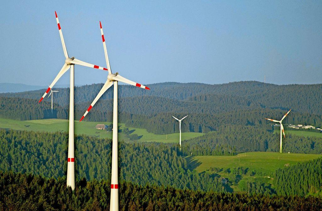 Windkraftanlage im Schwarzwald: bei einer Ausschreibung ging das Land leer aus. Foto: dpa