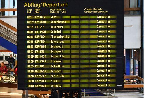 30 Flüge in Stuttgart fallen aus