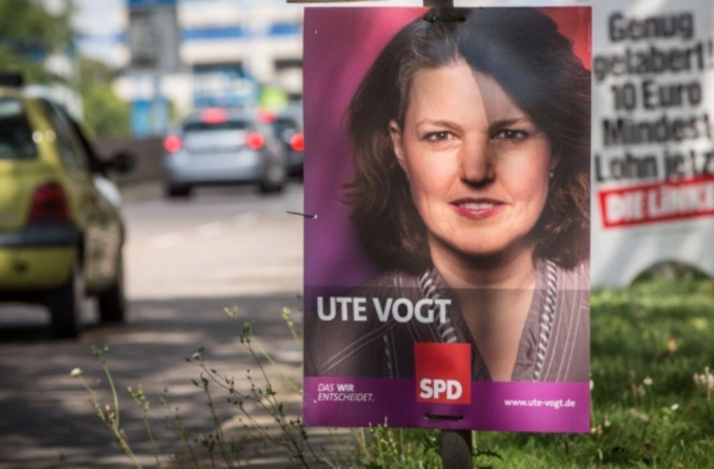 Die SPD empfiehlt ihren Anhängern ihre Erststimme im Wahlkreis Stuttgart I statt Ute Vogt dem Bewerber der Grünen, Cem Özdemir, zu geben. Foto: Achim Zweygarth