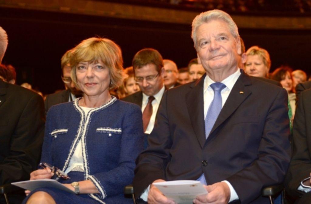 Bundespräsident Joachim Gauck und seine First Lady Daniela Schadt Foto: