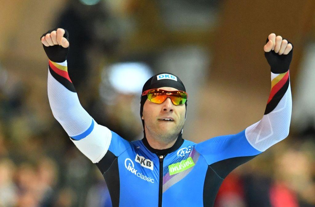 Hofft auf eine Medaille: Eisschnellläufer Nico Ihle. Foto: dpa