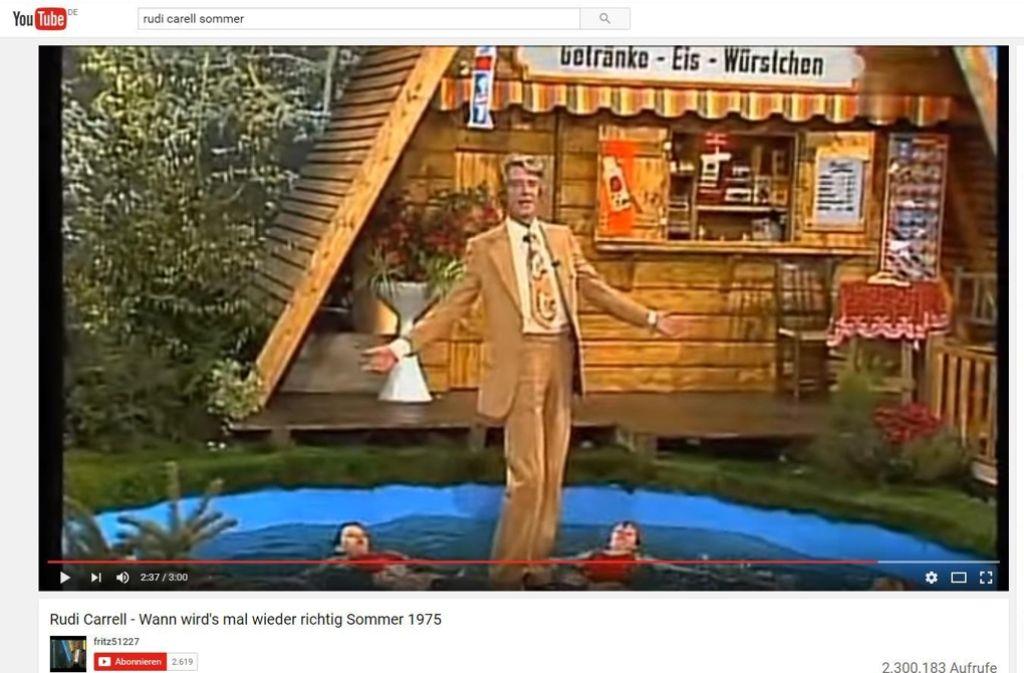 """""""Wann wird's mal wieder richtig Sommer?"""": Rudi Carrells SuperDuper-Hit von 1975. Foto:"""