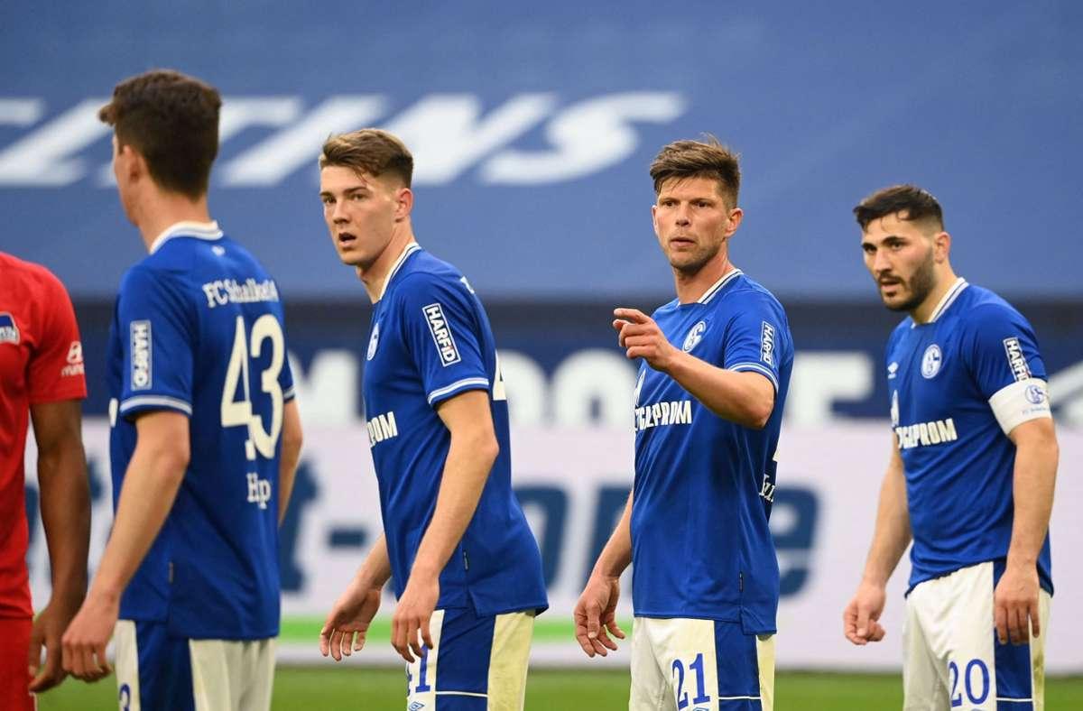 Die Schalker stellten gleich drei weitere Bundesliga-Rekorde auf. Foto: AFP/INA FASSBENDER