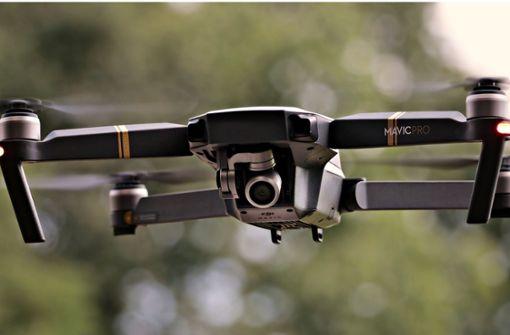 Der Landrat lässt mit der Drohne messen