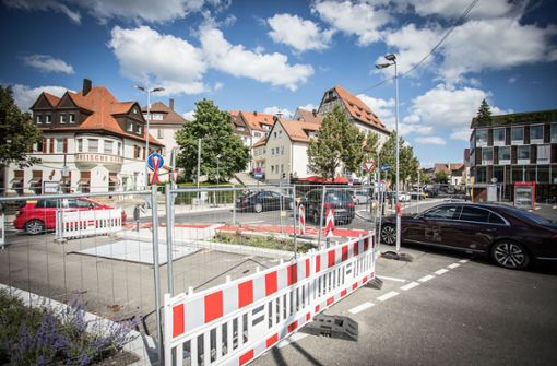 Der Elbenplatz wird am Freitag fertiggestellt