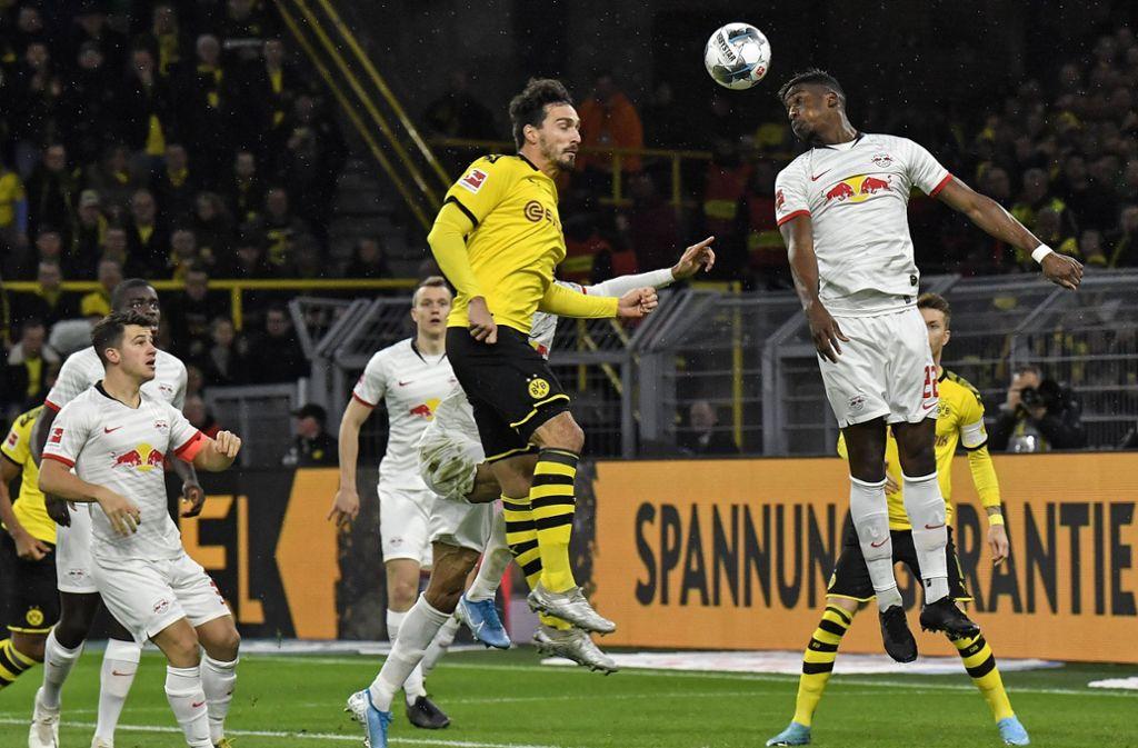 Dortmund und Leipzig trennten sich im Spitzenspiel mit 3:3. Foto: AP/Martin Meissner