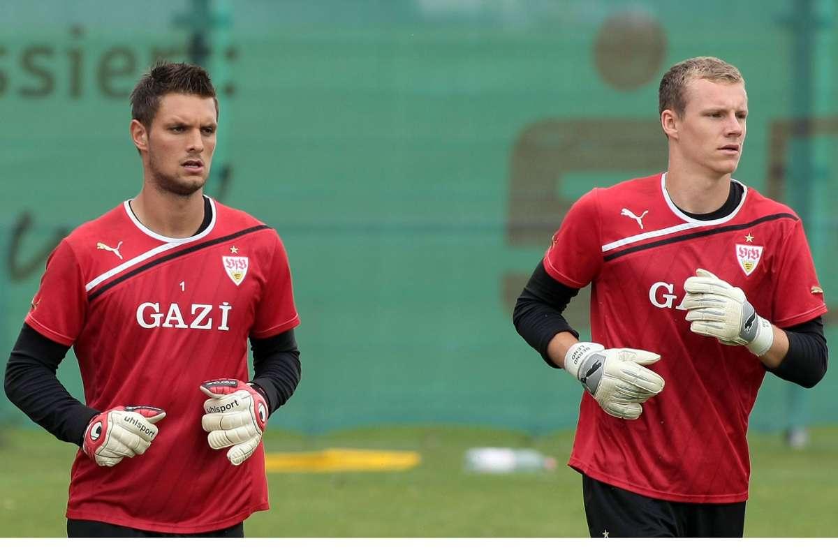 An Sven Ulreich (links) gab es für Bernd Leno beim VfB kein Vorbeikommen. Foto: Baumann