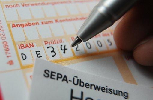 Ab 1. Februar ist die Iban Pflicht. Foto: dpa