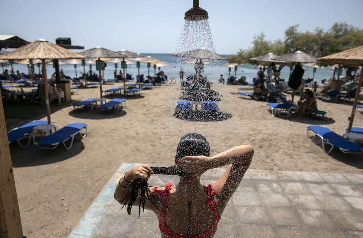 Extreme Hitze in Griechenland Foto: dpa/Yorgos Karahalis