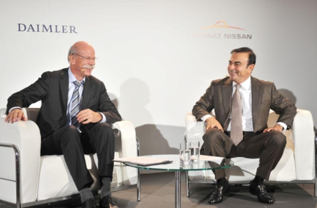 Dieter Zetsche, Daimler-Vorstandsvorsitzender (links), und Foto: dpa