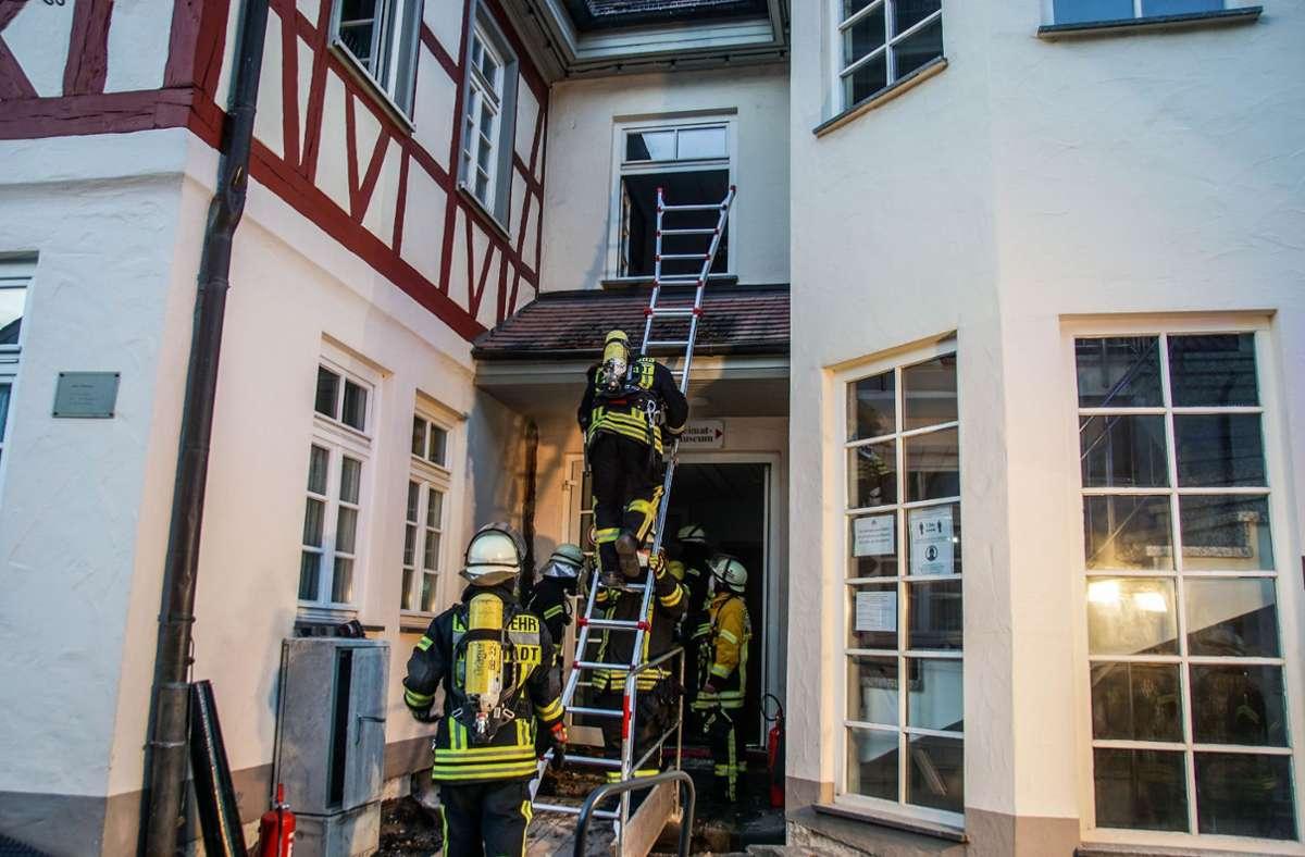Im Bürgeramt von Magstadt war es zu dem Brand gekommen. Foto: SDMG/Dettenmeyer