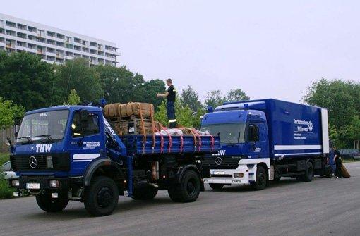 Das THW Baden-Württemberg schickt 100.000 Sandsäcke nach Magdeburg