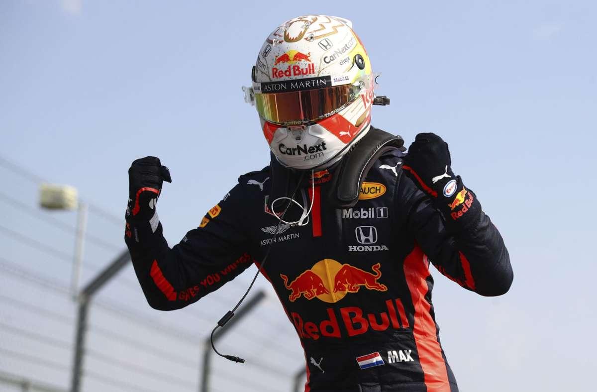 Auf dem Nürburgring belegte Max verstappen Platz zwei und war zufrieden – aber wie geht es für den Niederländer bei Red Bull weiter? Foto: AP/Bryn Lennon